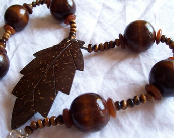 Jungle Love - coconut, wood, tiger's eye