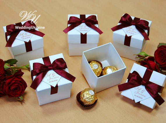 Wedding Gift Boxes: Elegant Wedding Bonbonniere Wedding Favor Boxes With