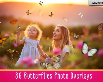 86 Butterflies overlays, PNG, Photoshop overlay, butterfly, Photo Overlays