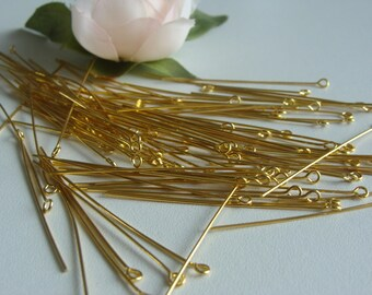 1 lot of 100 round head nails length 5cm Gold + 4 free