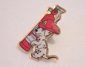 Firehouse Dog Lapel Pin Dalmatian Firefighter Jewelry Fashion Accessories For Her