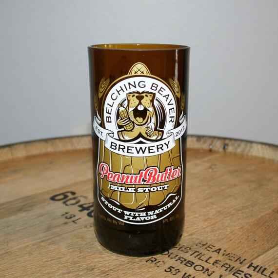 UPcycled Pint Glass - Belching Beaver - Peanut Butter Milk Stout