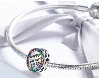 Happy Easter Day Charm 100% 925 Sterling Silver Pandora