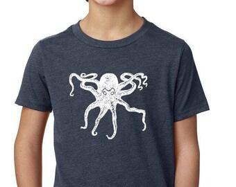 Seasons K Designs Octopus Youth tee, Kids Tee, Childrens Tee, Kids Clothes, Kids fashion, Girls Tee, Boys Tee, Girls T-shirt, Girls Tee