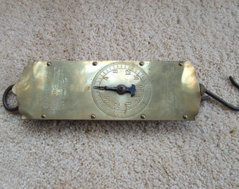 Vintage Hanging Scale, C. Forschner's Brass Scale, Metal Scale