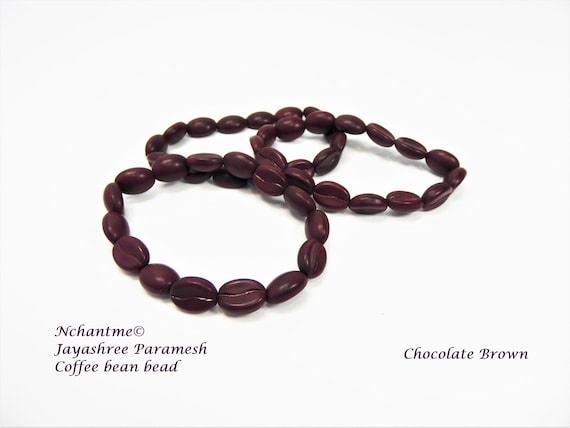 Coffee Bean Czech Beads