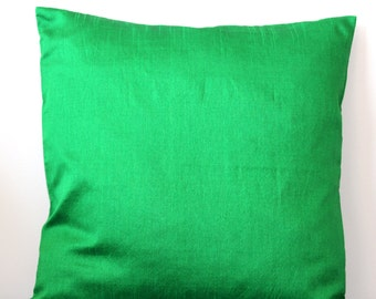 Green Pillow Cover Green Cushion Cover Bright Green Pillow Solid Pillow Green Throw Pillow Decorative Pillow Accent Pillow 16x16 pillow