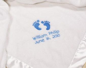 Embroidered Baby Boy Fleece Blanket -gfyE340432