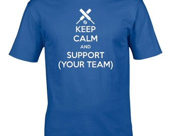 Keep calm and support cricket - email your favourite team - Custom Youth's / Boy's T-Shirt - YTS1265
