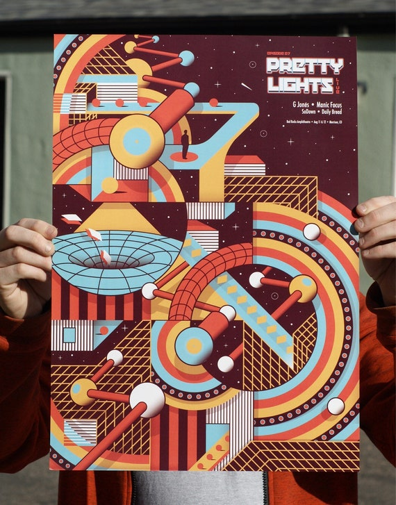 Pretty Lights Red Rocks Amphitheatre 2017 Poster Episode 7 Print G Jones