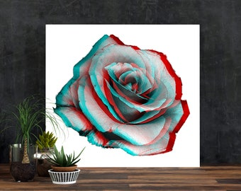 Rose Print, Rose Photo, Rose Decor,  3D prints, Pop Art,Rose Photograph, 3D,Flower Photo, wall art, floral, nature photography, Nature print