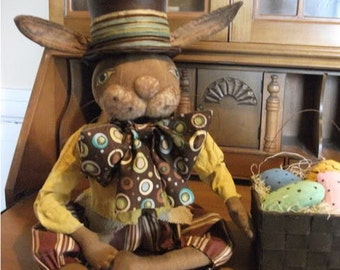 Primitive Folk Art Bunny Rabbit Doll