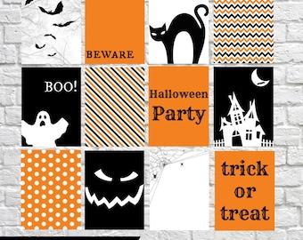 Halloween Journaling Cards, Project Life Inspired Printable, Simple Stories, Digital Scrapbooking, Pocket Scrapbooking, Planner Printable