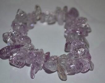 Light Purple Ice Flake Quartz Bracelet