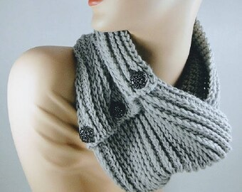 Crochet Pattern - Infinity Scarf Crochet Pattern #402 - Knit Look Crochet - Instant Download PDF