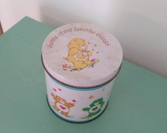 80's vintage Care Bear tin, vintage tin, Care Bears
