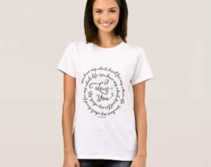 """Women's T-shirt """"I Love You"""""""