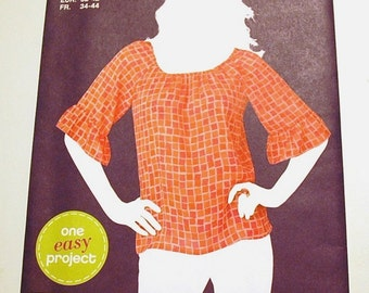 LAST CHANCE SALE - Simplicity 1997 - Misses Pullover Top Pattern - Sew Simple - Size 6, 8, 10, 12, 14, and 16 - Uncut