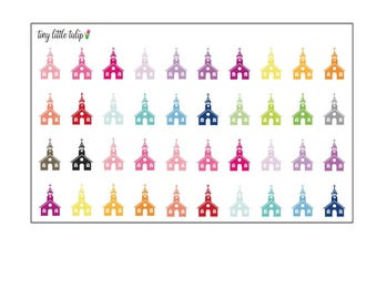 Planner Stickers Church Building
