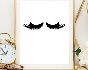 lashes print, eyelashes printable, lashes digital print,  OFF, lashes printable, lashes wall art
