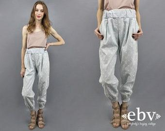 Polka Dot Pants Polka Dot Trousers 90s Trousers 90s Pants Cropped Pants Crop Pants 1990s Pants High Waisted Pants High Waist Pants S M