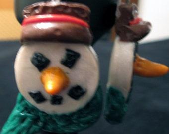 Mr. Frosty Earrings-Clearance Sale-Half Price