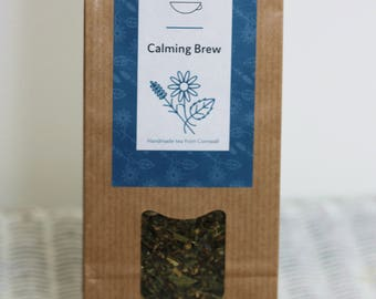 Organic Calming Brew teabelly Artisan Herbal Tea Infusion Tisane