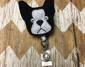 Boston Terrier Badge Reel