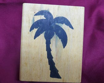 Palm Tree Silhouette Rubber Stamp