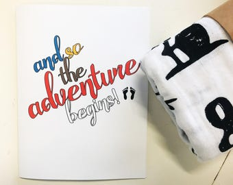 Congrats on Baby Card - the adventure begins!