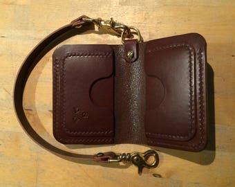 Leather wallet Leather billfold Billfold wallet Veg tan wallet Wallet Mens wallet Biker wallet Leather mens wallet edc Mens leather wallet