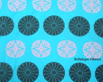 Clearance 1 Yard Amy Butler Pressed Flowers From the CaMeO Collection, In Sky