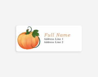 autumn address labels fall address labels return address