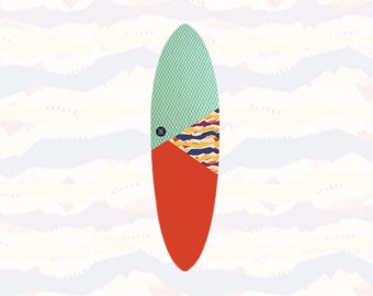 NEW IN   Volcan-Oh   Surfboard Sock   Suave Lava
