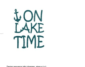 On Lake Time (simple design) Great for can coolers!