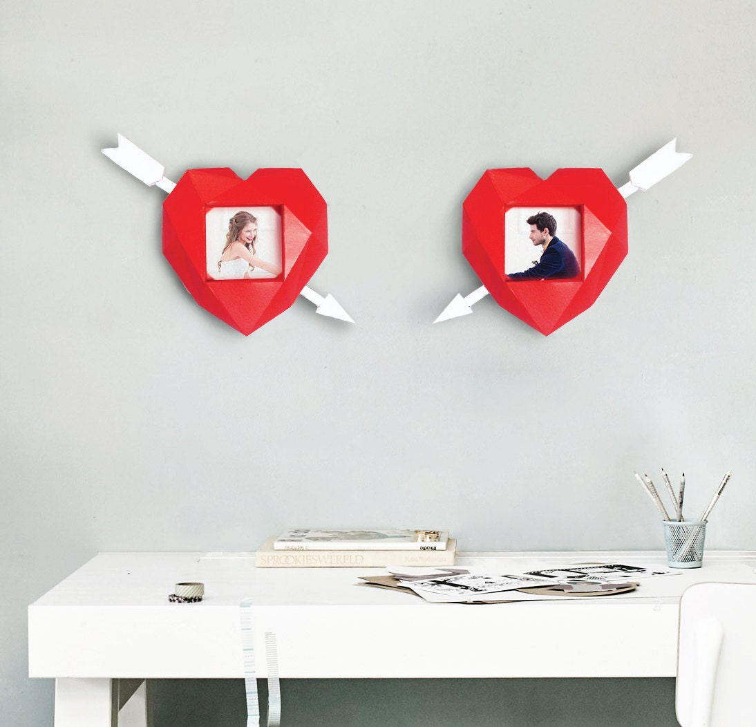 Papercraft photo frame valentine heart wedding decoration zoom junglespirit Choice Image