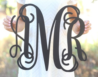 Personalized Rustic Wood Monogrammed Sign Bridal Shower Wedding Gift Housewarming Party Christmas Birthday Baby Shower Nursery Decor