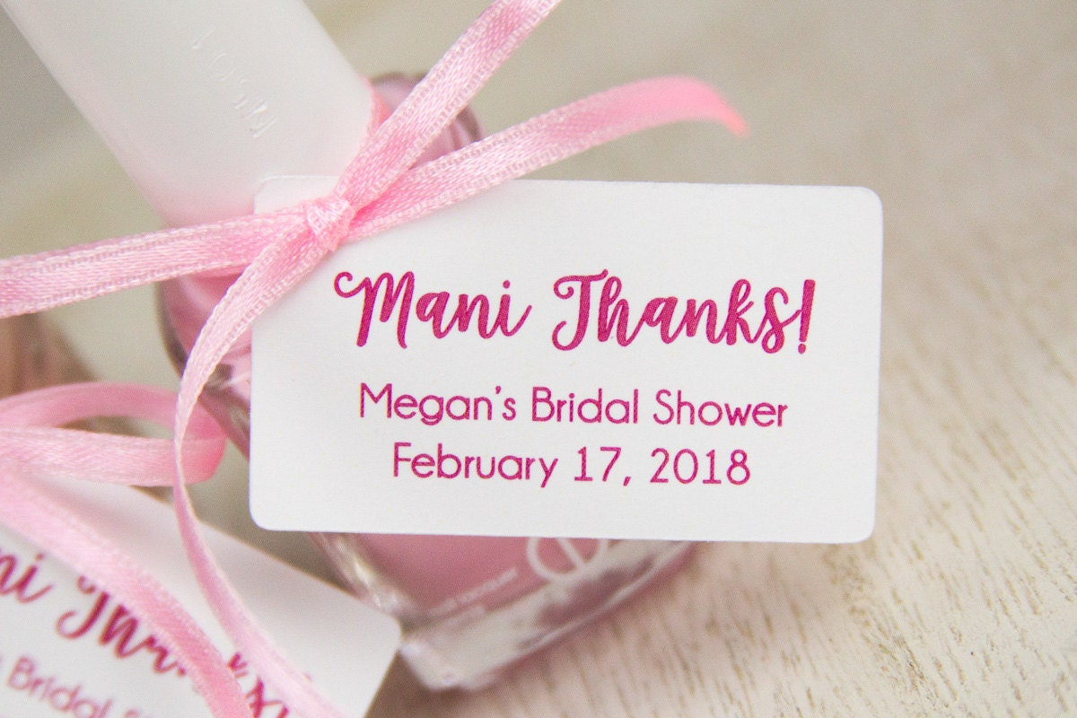 Mani Thanks Tags Bridal Shower Thank You Gifts Baby Shower