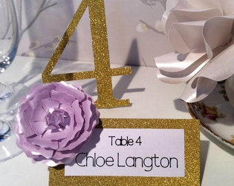 Table Place Name - Purple Flower