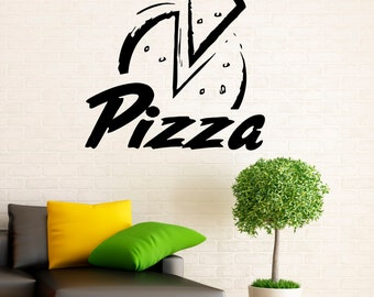 Pizzeria Wall Decal Vinyl Stickers Pizza Restaurant Interior Design Art Murals Decor (2p01za)
