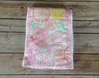 Baby burp pad, pastel colors burpie, original burp pad, unique burp pad