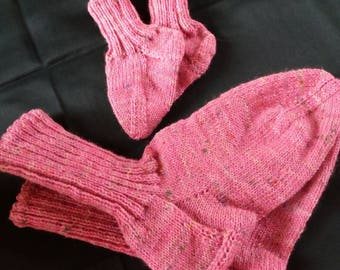 Dream in Pink mother-and-child socks