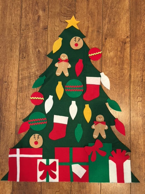 After Christmas SALE Children's Felt Christmas Tree
