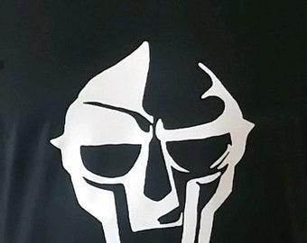 MF Doom: Front Mask and Back logo T-Shirt