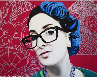 True Beauty - Nici Shipway - ART PRINT - 8 x 10 - By Toronto Portrait Artist Malinda Prudhomme