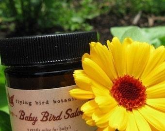 4oz baby bird salve, organic herbal healing salve for babies and their families