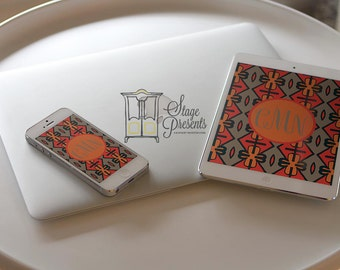 iPad Wallpaper/iPhone Wallpaper -  Tribal Wallpaper - Personalized Wallpaper - Custom Wallpaper - Phone Background
