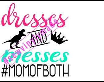 Dress and messes mom of both JPEG, PNG, SVG