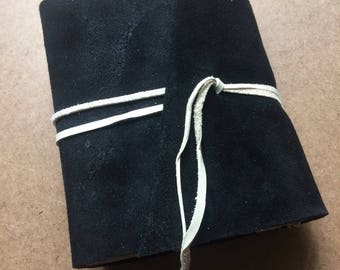4.5x6 inch black journal, soft journal, colorful journal, black book, handmade paper, recycled paper, homemade paper, journal, sketchbook