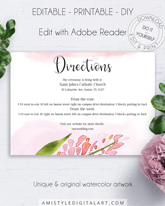 Blush Floral Directions Pdf Shabby Chic Whimsical Details
